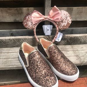 Minnie Rose Gold Ears & Kenneth Cole girls shoes